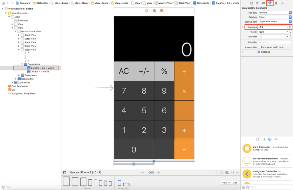 Build an iOS Calculator App – Tutorial Part 1 – app building blocks
