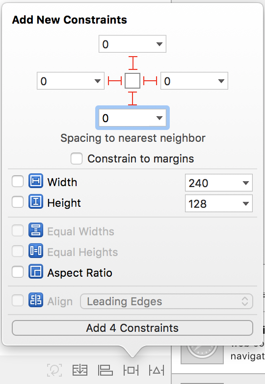 Add constrains to bottom zoom