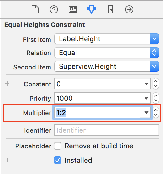 Label equal heights